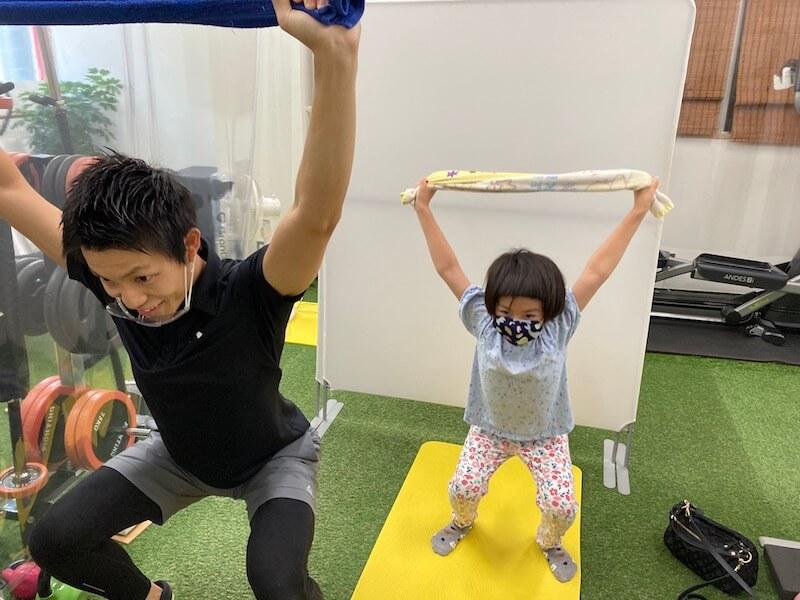 子どもの姿勢トレーニング